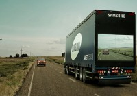 Samsung's New 'See-Through' Safety Trucks Allow Drivers To See The Road Ahead
