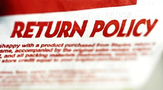 return policies Whether you're making a return online or in-store, find out what our return policy is and how you can make a return or exchange.