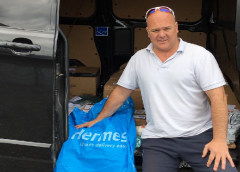 All Aboard! Hermes Deliveries Kept On Track By Dedictated Courier