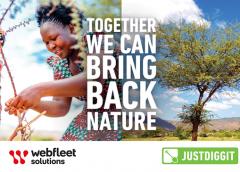 Justdiggit and Webfleet Solutions launch 'Green Your Fleet'