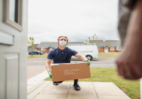 Couriers retain safe delivery protocols despite lockdown easing. 'The front door remains the front line,' says ParcelHero.